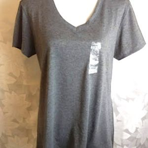 BCG Pullover Semi Fitted Grey Tee Size XL